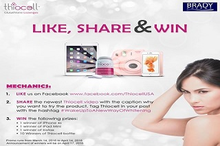 Like and Share Win Promo